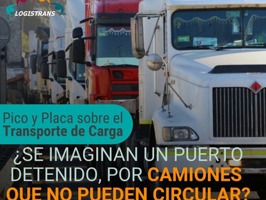 ⚠️¿SE IMAGINAN UN PUERTO DETENIDO✋POR CAMIONES QUE NO PUEDEN CIRCULAR? - Pico y Placa al transpor
