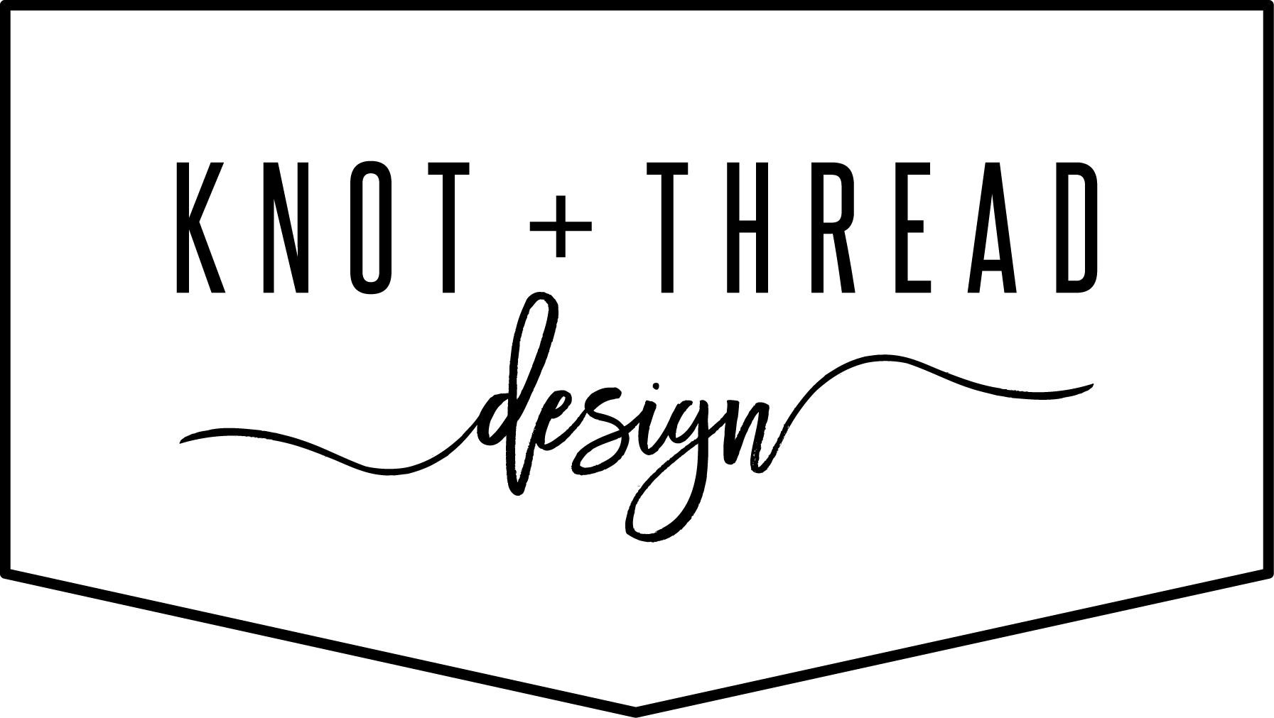 Knot and Thread Design Horizontal  Logo