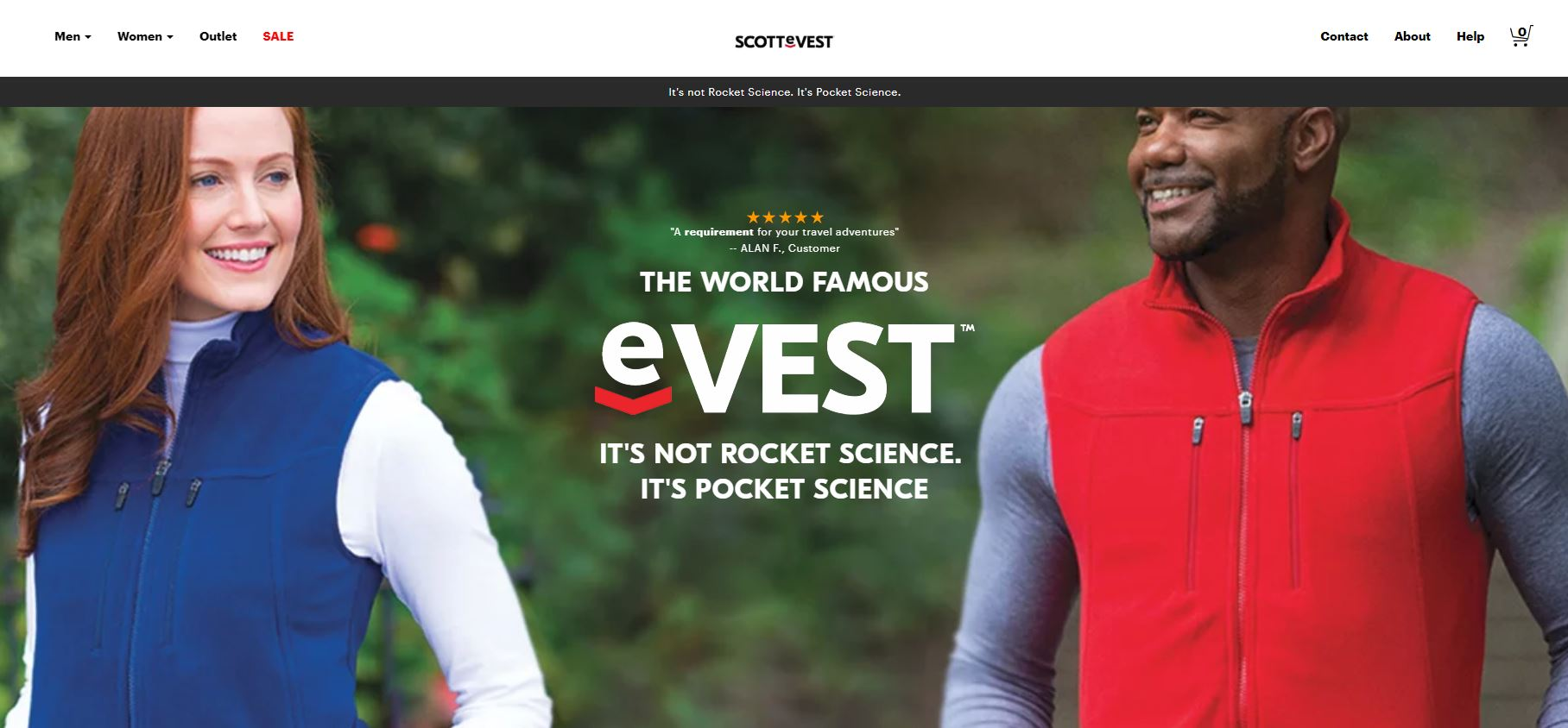 ScotteVest Website Homepage - Danielle B