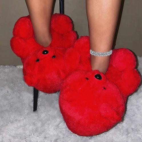 Beary Cherry Slippers
