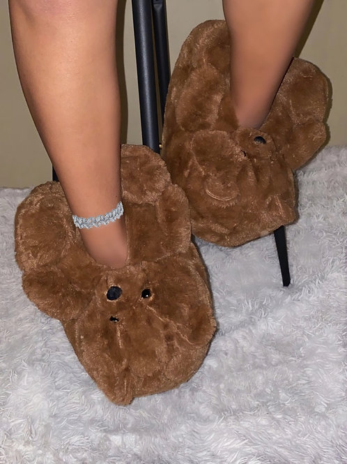 Beary Mocha Slippers