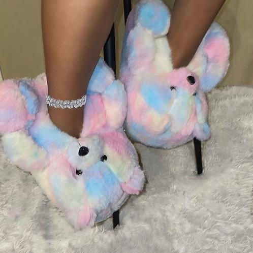 Beary Sherbert Slippers