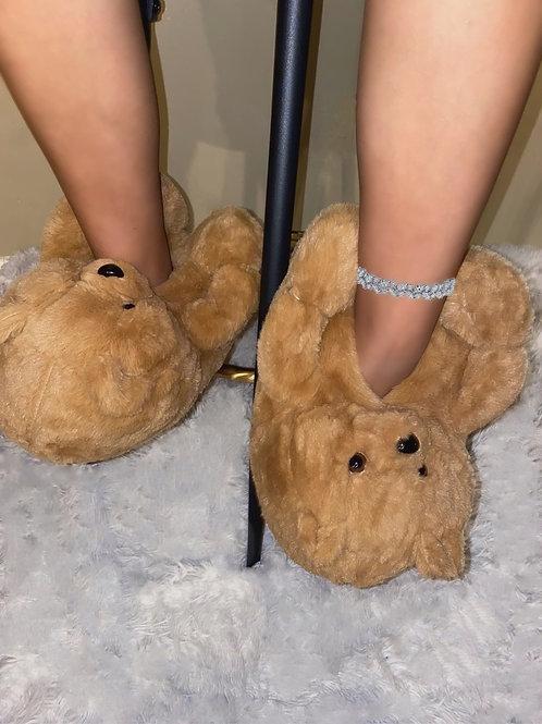 Beary Latte Slippers