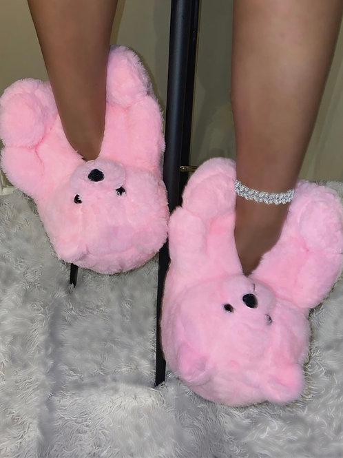 Beary Bubblegum Slippers