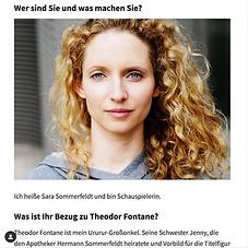 FONTANE BLOG Sara Sommerfeldt. Sara Sommerfeldt mit offenen, blonden, lockigen Haaren