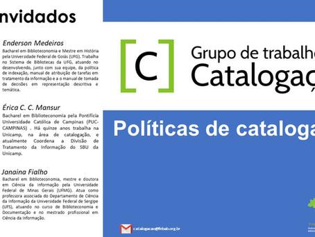 (Webinar) Políticas de catalogação