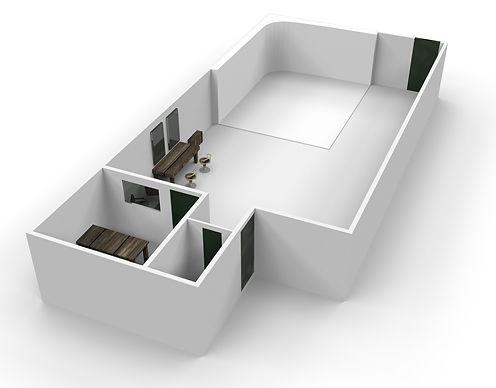 Studio 3D floorplan