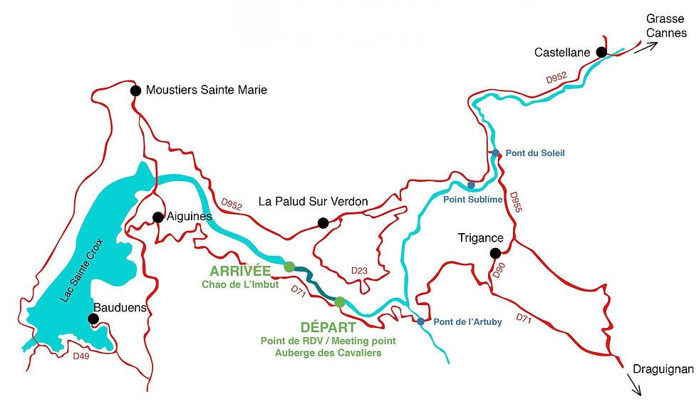 carte grand canyon du verdon