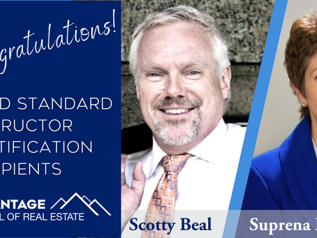 Suprena Fay and Scotty Beal Receive REEA Gold Standard Certification