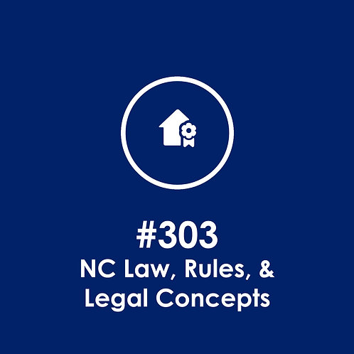 Post #303: NC Law, Rules, & Legal Concepts