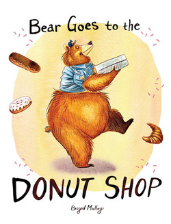 bear goes to the donut shop