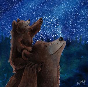 Baby and mama bear look at stars.jpg