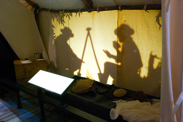 """Tent Shadows"" at National Museum of the Marine Corp"