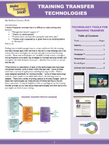 Training Transfer Technologies - Free White Paper
