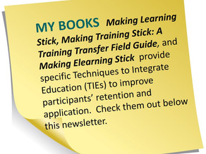 Making Training Stick and Bloom's Action Verbs