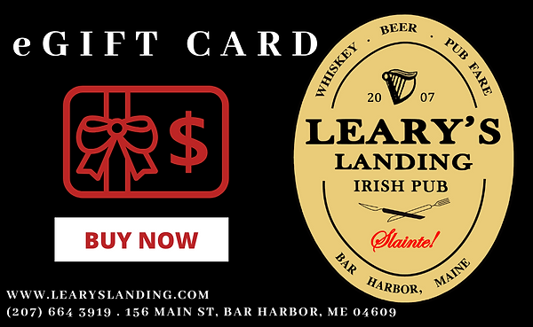 eGift Card Leary's Landing Irish Pub Gift Card