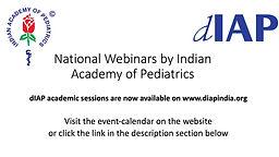 National Webinars by IAP