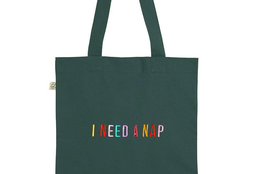 I Need A Nap Bottle Green Tote Bag