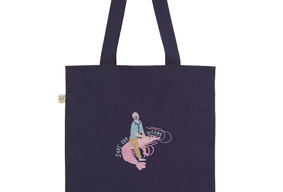 Save Our Oceans Navy Tote Bag