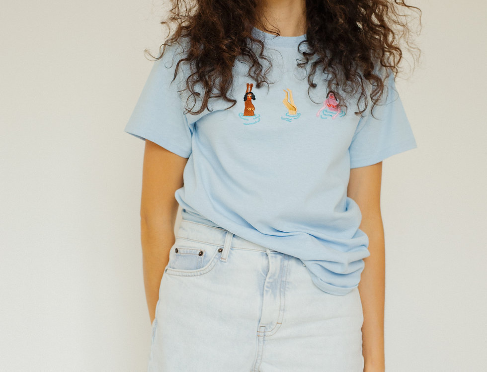 Swimming Ladies T-Shirt