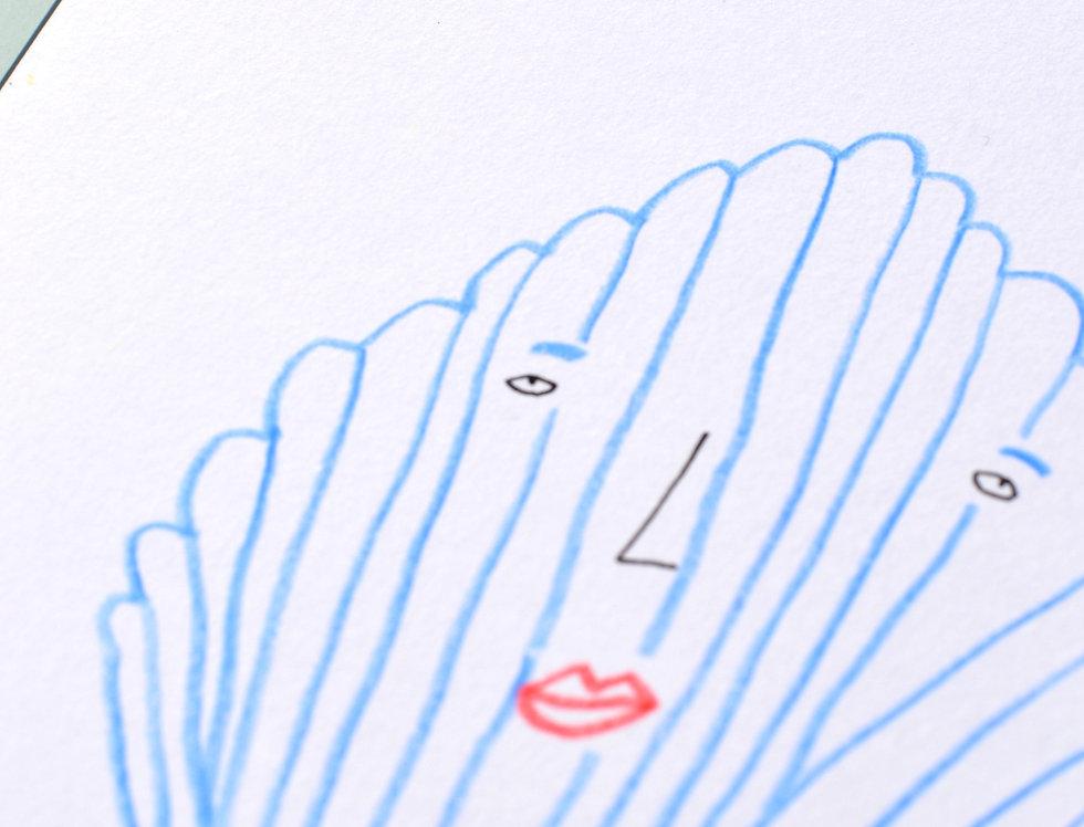 Blue Shell Original Drawing