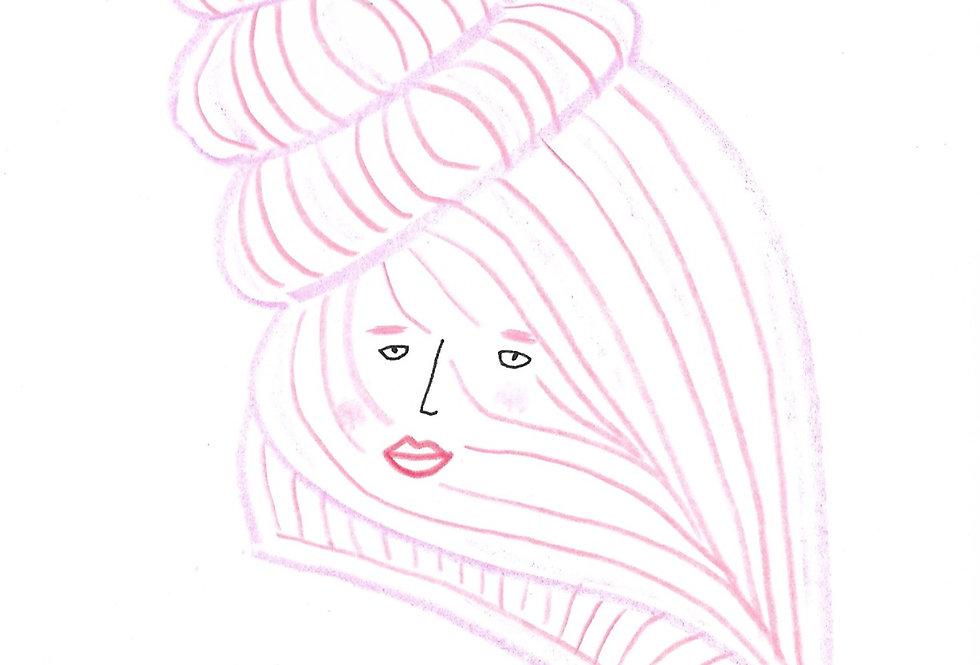 Little Pink Shell Original Drawing
