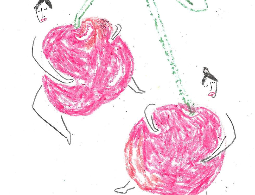 Cherry Huggers Original Drawing