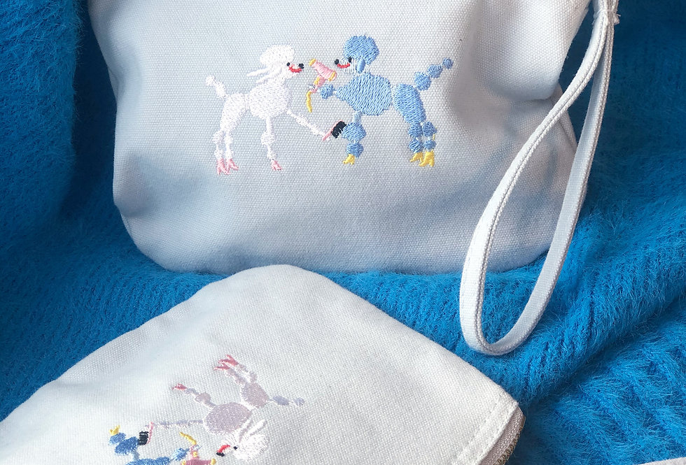 Pampering Poodles Make Up Bag