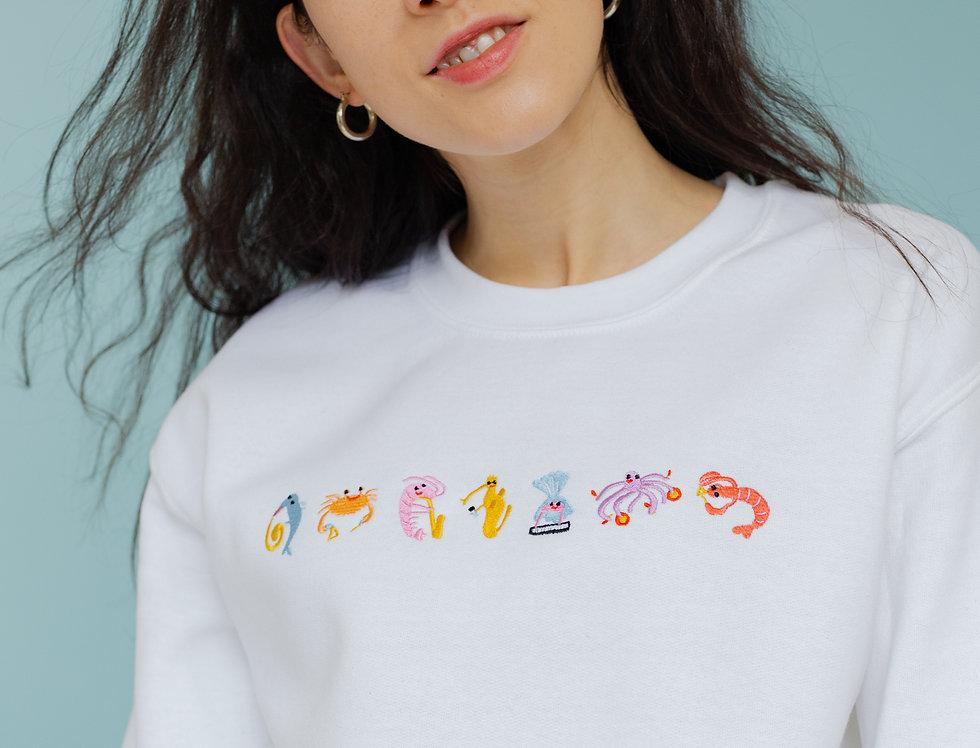 Seafood Medley Sweatshirt