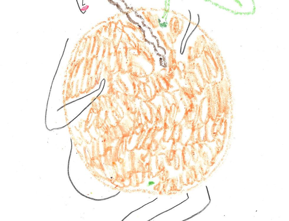 Orange Hugger Original Drawing