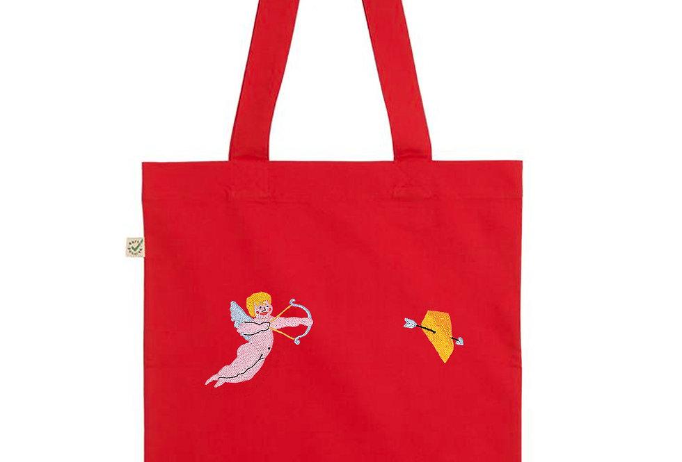 Cheesy Cherub Red Tote Bag