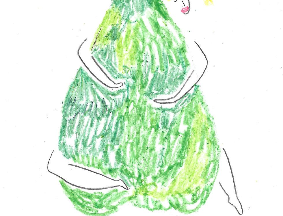 Pear Hugger Original Drawing