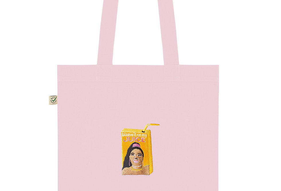 Lizzo's Juice Pink Tote Bag