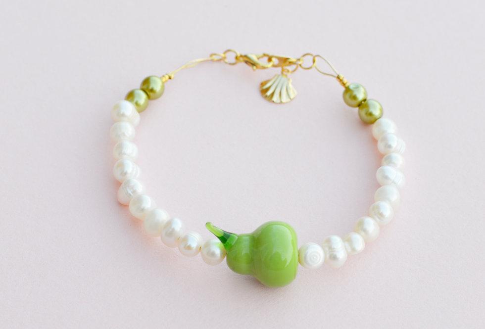 Fruit Market Pear & Pearl Bracelet