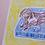 Thumbnail: Sausage Dog on Blue Pouffe Original Drawing
