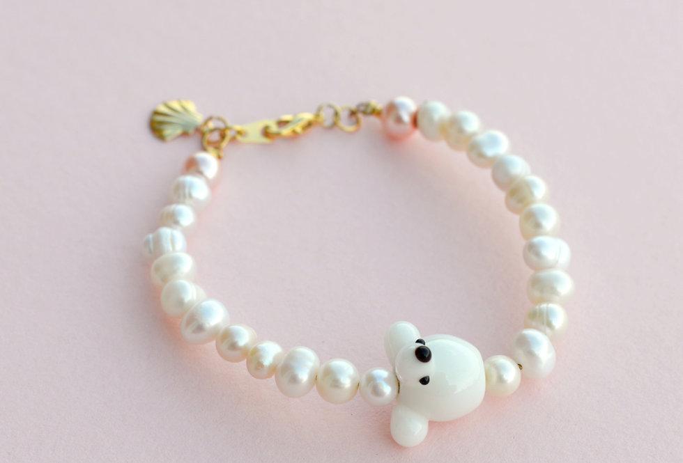 Pearly Poodle Bracelet