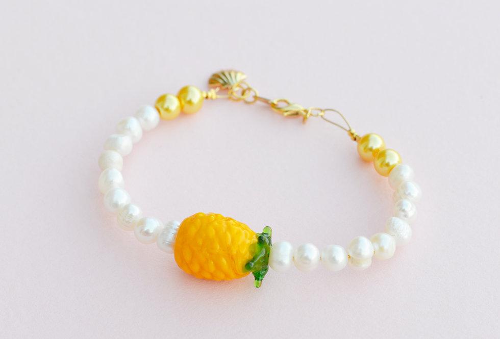 Fruit Market Pineapple & Pearl Bracelet