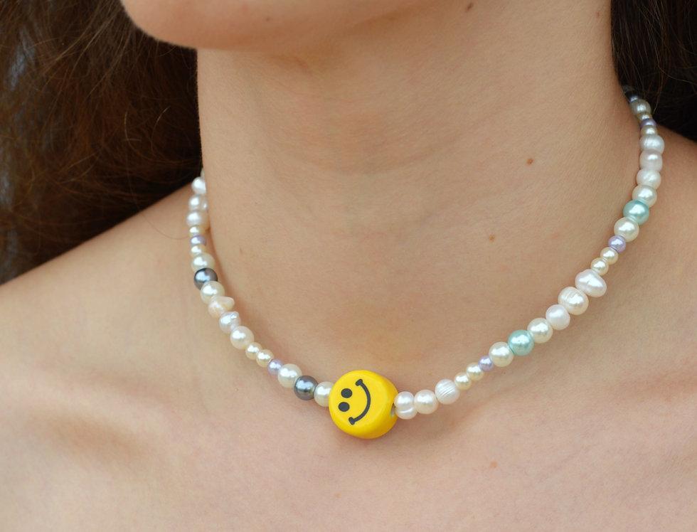 Blue Sky Smiles Necklace