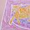 Thumbnail: Ginger Cat on Pink Pouffe Original Drawing