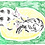 Thumbnail: Pair of Cats on a Yellow Pouffe Original Drawing