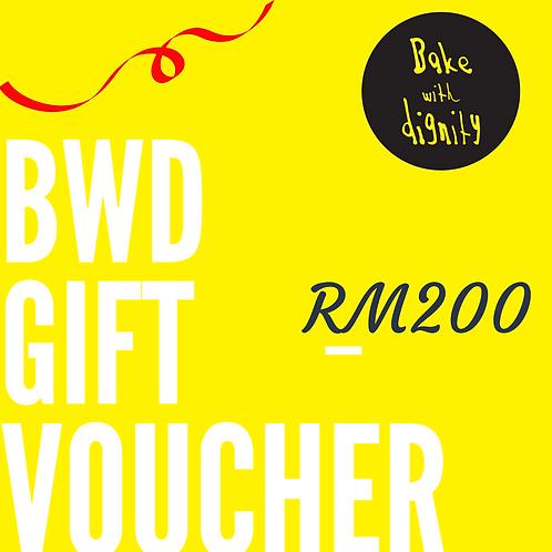BWD Gift Voucher - RM200