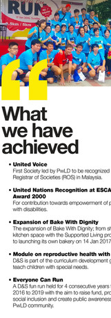 What we have achieved