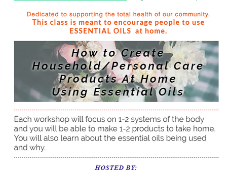 How to Create Household/Personal Care Products at Home Using Essential Oil's!