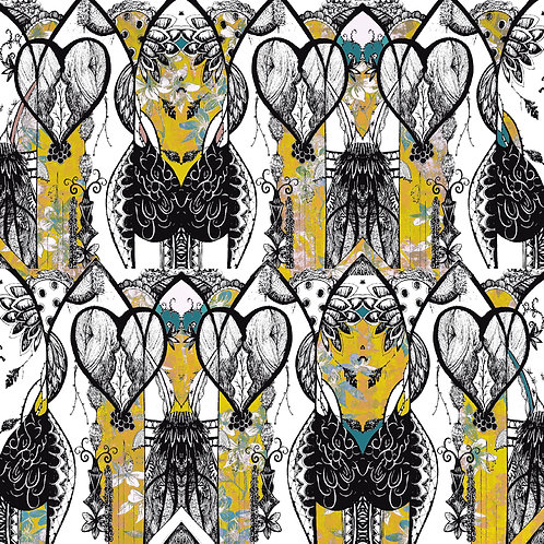 Aubrey Print Fabric - 4 Sizes Available