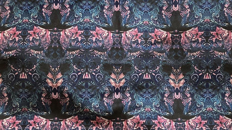 Tempest Blue Fabric Soft Velvet 50x50cm