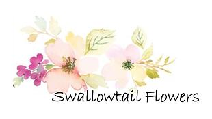 Swallowtail flowers watercolor logo.bigg