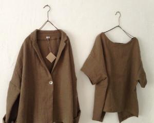 kon    冬の服  リネンウール