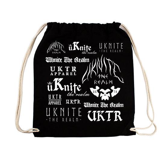 Multi-Logo Drawstring Bag