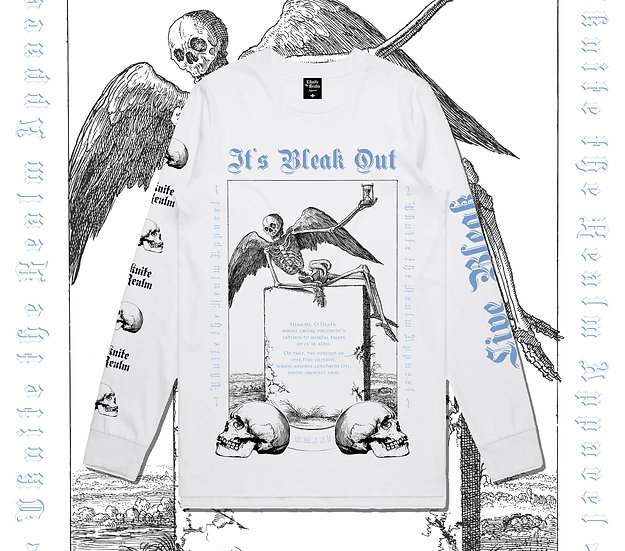 Bleak Out longsleeve White - Limited Edition