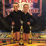 Another amazing day at Tremaine! 2 First Place in category and First Place Overall Duo! So proud of all your hard work! 💙 _avagracedancer _k